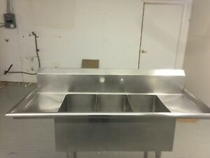 Three Compartments Sink Commercial 5ft Long