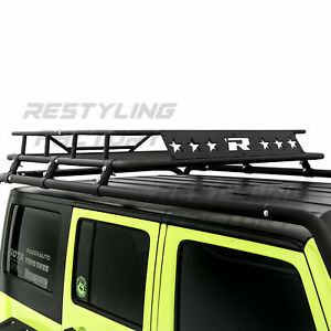 Top Luggage Cargo Roof Rack System Basket Kit For 07 18 Jeep Wrangler Jk 4 Door