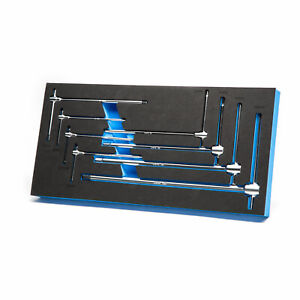 Capri Tools Sliding T Handle Hex Wrench Set With Mechanic S Tray 8 Piece