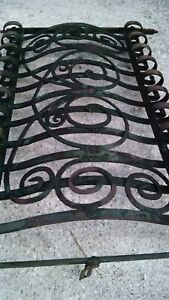 Antique Hand Forged Wrought Iron Window Bars Gate Architectural Salvage