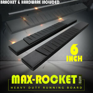 For 2005 2020 Toyota Tacoma Reg Cab 6 Side Step Running Board Nerf Bar Blk H