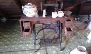 Vintage Rare Antique Sewing Machine Howe Treadle Local Pickup Jc New York