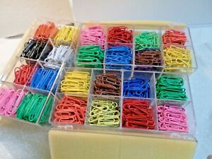 3 Boxes Of Bates Paper Clips Multi Color Pre Owned