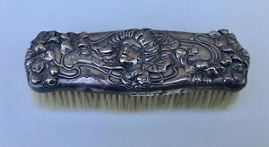 Antique Kerr Lady Sterling Silver Vanity Dresser Clothes Brush Nouveau Victorian