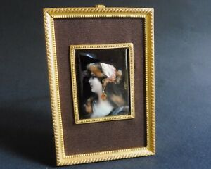 Cleopatra Fine Small Signed French Antique Limoges Enamel Plaque Ca 1880 4