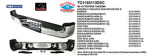 Cpp To1103113dsc Rear Bumper For 2005 2013 Toyota Tacoma