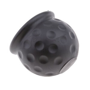 Black Tow Bar Ball Cover Car Towing Hitch Towball Plastic Cap 50mm