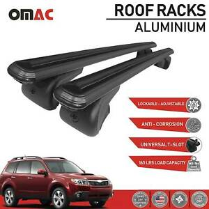 Roof Rack Cross Bars Luggage Carrier Black Set For Subaru Forester 2009 2013