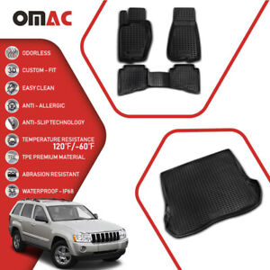 Floor Mats Cargo Trunk Liner 3d Molded Set For Jeep Grand Cherokee2005 2010