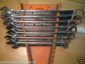 Snap on Tools 7pcs Standard Length Combination 12 point Wrench Set Oex28 oex14