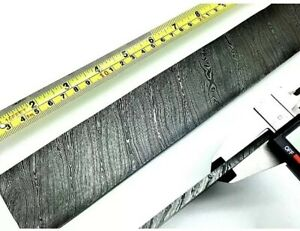 Damascus Steel Billet Knife Making Bar 15 Long 2 Wider And 5 Mm Thick