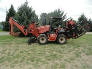 2010 Ditch Witch Rt95 Combo Trencher And Plow W Backhoe Blade 2170 Hours Nice