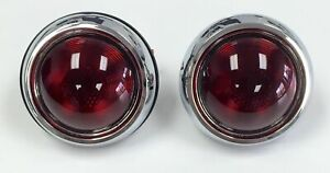 Tail Lights Glass Lens Pair Hot Rat Rod 1950 Style