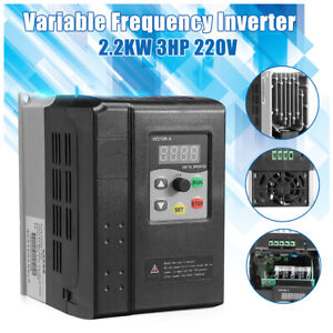 2 2kw 220v Variable Frequency Converter Vfd Single Phase To 3 Phase Inverter Vsd