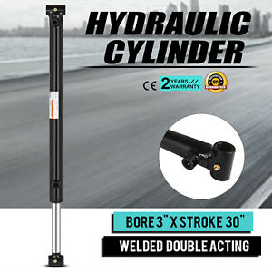 Hydraulic Cylinder 3 Bore 30 Stroke Double Acting Agriculture Garden Equipment