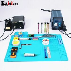 Soldering Station Repair Kit Set Portable Heating Iron Computer Fixing Mat