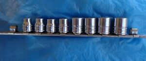 6 Snap on Metric Fm Series 3 8 Drive Sockets Includes Snap on Rail