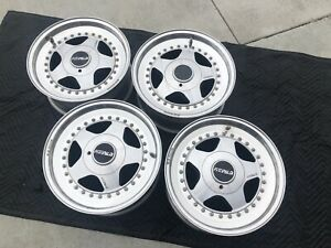 Oz Racing Fittipaldi 3 Piece Bmw Wheels Obo E30 M3 E12 E28 E34 E36 Z3