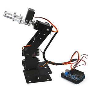 Diy Assembly 4 dof Mechanical Robot Arm Set With 4 Steering Gear