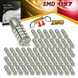 50x Amber red Switchback Led Turn Signal Bulb 1157 1076 1154 Dual Color Resistor