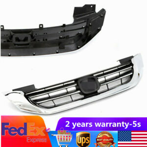 Fit Honda Accord 2013 2015 Radiator Grille Front Bumper Upper Grill Chrome
