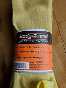 18 Yellow 1 ply 100 Kevlar Body Guard Protective Sleeve Package Of 25