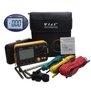 Vc4105a Digital Multimeter Earth Ground Resistance Voltage Tester Meter