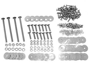 1955 1956 1957 1958 1959 Chevrolet Truck Bedstrip Bolt Kit Zinc Plated Shortbed