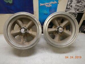 15x7 Used American Racing Torq Thrust Wheels 5 On 4 3 4 Chevelle Camaro Gto Ss