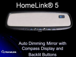 2016 2019 Toyota Tacoma Original Equipment Homelink Compass Rearview Mirror