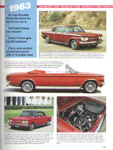 1963 Chevy Corvair Impala Ss 409 Convertible Corvette Article Must See