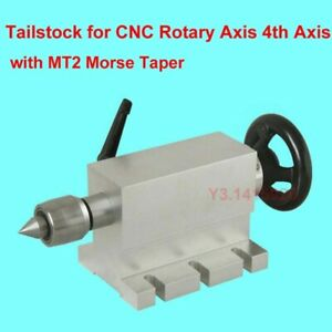 Tailstock For Cnc Rotary Axis 4th Axis Mt2 Morse Taper Live Centre Height 65mm