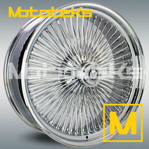 22x8 Wire Wheels 150 Spoke 4pc Set Chrome Wheels Rims W Zenith Style Knock Offs