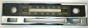 Becker Mexico Radio Chrome Faceplate For Vintage Classic Mercedes Benz
