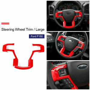 4pcs Air Conditioner Audio Switch Knob Ring Cover Trim For Ford F150 2016 2018