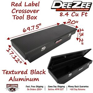 Dz8170tb Dee Zee Aluminum Truck Crossover Tool Box Single Lid Textured Black