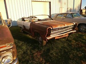 1966 Fairlane Convertible Parts Or Project 289 390 Gt 500 Very Solid Mustang Xl