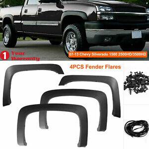 Fender Flares Pocket Rivet Style Fit For 07 13 Chevy Silverado1500 2500hd 3500hd