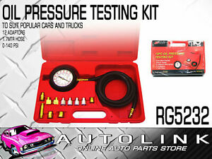Pro kit Rg5232 Oil Pressure Tool Test Kit 0 140 Psi With Gauge 12 Adapters