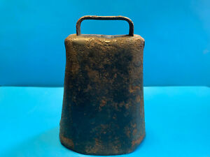 Old Vtg Collectible Riveted Primitive Folded Rusty Iron Cow Sheep Goat Bell