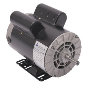 5 Hp Spl 1 Phase 3450rpm Electric Air Compressor Duty Motor 56 Frame 5 8 shaft L