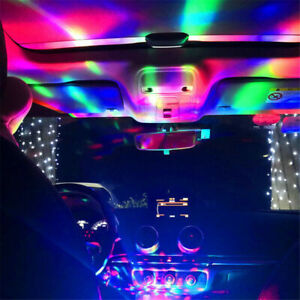 New Usb Rgb Led Neon Atmosphere Ambient Music Car Interior Light Control Lamps