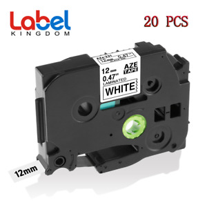 20 Pk Tz231 Tze231 Pt d210 Compatible Label Maker Tape 12mm For Brother P touch