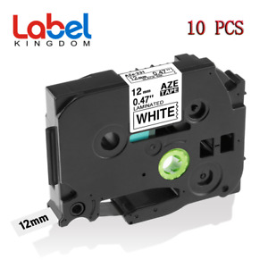 10 Pk Tz231 Tze231 Pt d210 Compatible Label Maker Tape 12mm For Brother P touch