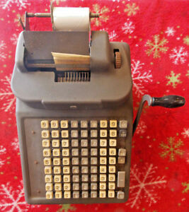 Vintage Burroughs Square Key Adding Machine Made In Detroit Michigan Usa