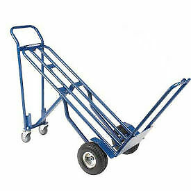 Steel 3 in 1 Convertible Hand Truck With Pneumatic Wheels 600 Lb Capacity 1