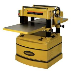Powermatic 1791316 209hh 5hp 230v 3ph 20in Planer With Byrd Helical Cutter H