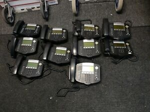 Lot 10 Polycom Ip650 Sip Soundpoint Digital Ip Phone W Handset no Base No Ac
