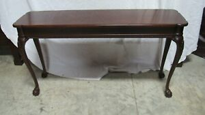Mahogany Chippendale Claw Foot Sofa Console Table