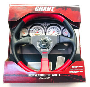 Grant Gt 1067 Steering Wheel Red And Black Perforated 13 75 Formula 1 New